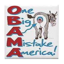 Obama Big Ass Mistake Tile Coaster