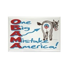 Obama Big Ass Mistake Rectangle Magnet
