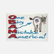 Obama Big Ass Mistake Rectangle Magnet