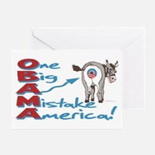 Obama Big Ass Mistake Greeting Card