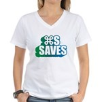Command S Saves Women's V-Neck T-Shirt