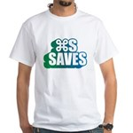 Command S Saves White T-Shirt