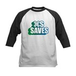 Command S Saves Kids Baseball Jersey