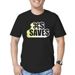 Command S Saves Men's Fitted T-Shirt (dark)
