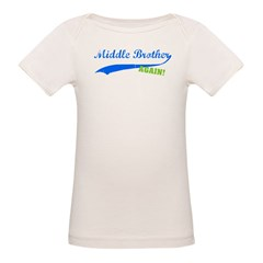 Middle Brother Again Organic Baby T-Shirt