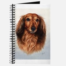 Dachshund Red Longhair 1 Journal