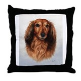 Wiener dog Throw Pillows