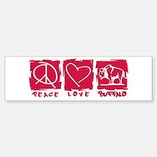 Peace.Love.Buffalo Bumper Bumper Sticker