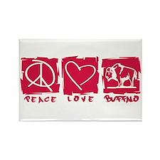 Peace.Love.Buffalo Rectangle Magnet