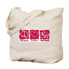 Peace.Love.Buffalo Tote Bag