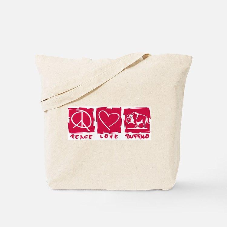 Peace.Love.Buffalo Tote Bag