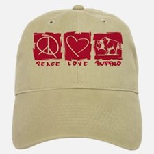 Peace.Love.Buffalo Baseball Baseball Cap