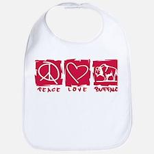 Peace.Love.Buffalo Bib