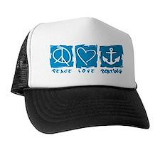 Peace.Love.Boating Trucker Hat