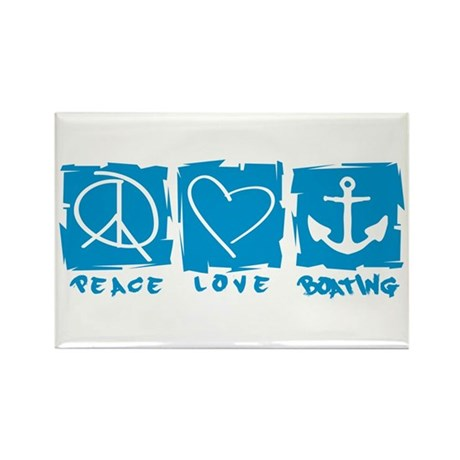 Peace.Love.Boating Rectangle Magnet