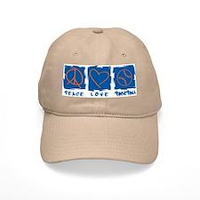 Peace.Love.Baseball Baseball Cap
