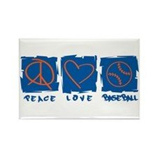 Peace.Love.Baseball Rectangle Magnet