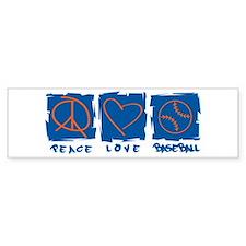 Peace.Love.Baseball Bumper Sticker