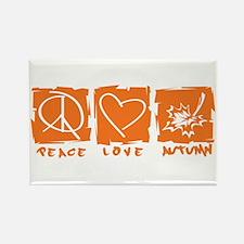 Peace.Love.Autumn Rectangle Magnet