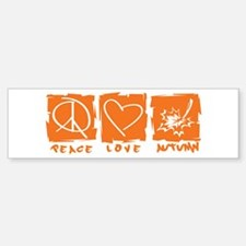 Peace.Love.Autumn Bumper Bumper Sticker