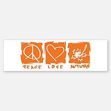Peace.Love.Autumn Sticker (Bumper)