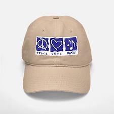 Peace.Love.Music Baseball Baseball Cap