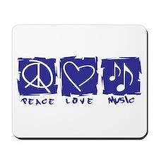 Peace.Love.Music Mousepad