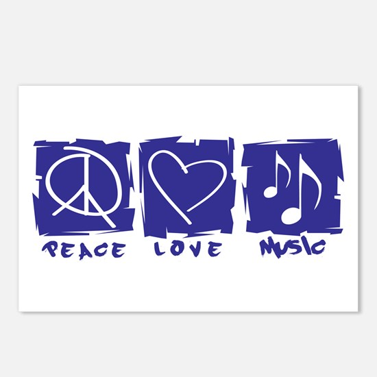 Peace.Love.Music Postcards (Package of 8)