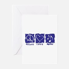 Peace.Love.Music Greeting Cards (Pk of 10)