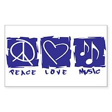 Peace.Love.Music Bumper Stickers