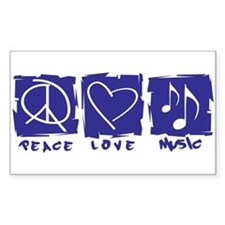 Peace.Love.Music Decal