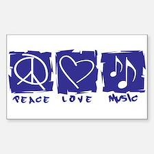 Peace.Love.Music Decal