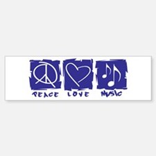 Peace.Love.Music Bumper Bumper Sticker