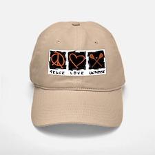Peace.Love.Lacrosse Baseball Baseball Cap