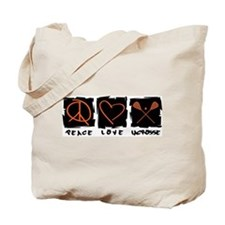 Peace.Love.Lacrosse Tote Bag