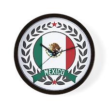 Mexico Wreath Wall Clock
