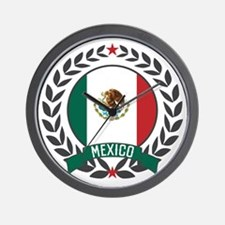 Mexico Wreath Wall Clock