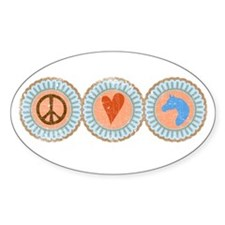 Peace, Love & Horses Decal