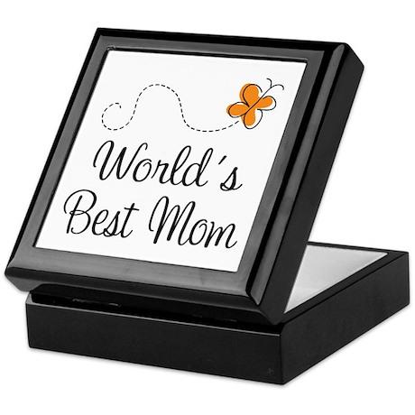 Cute Worlds Best Mom Keepsake Box