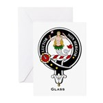 Glass Clan Crest Badge Greeting Cards (Package of