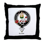 Glass Clan Crest Badge Throw Pillow