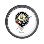 Glass Clan Crest Badge Wall Clock