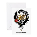 Gladstanes Clan Crest Greeting Cards (Pk of 10