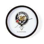 Gladstanes Clan Crest Wall Clock