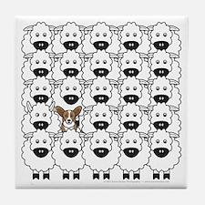 Cardie in Sheep Tile Coaster