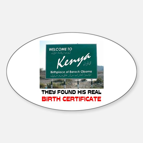IS HE KENYAN ? Sticker (Oval)