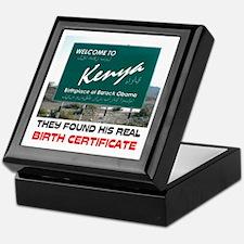 IS HE KENYAN ? Keepsake Box