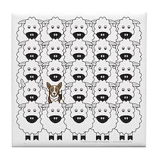 Corgi in Sheep Tile Coaster