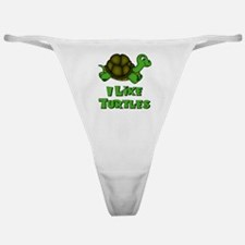 I Like Turtles Classic Thong