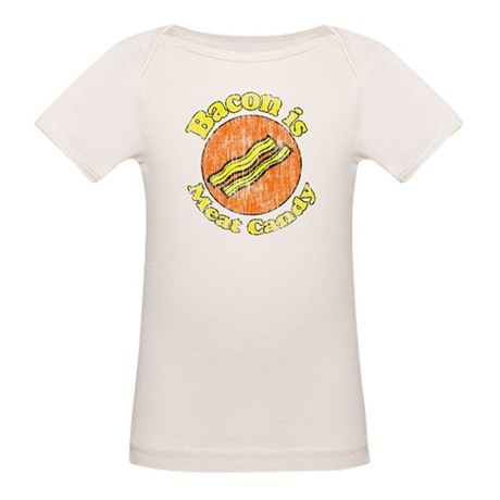 Vintage Bacon is Meat Candy Organic Baby T-Shirt